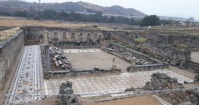 DMWC Mosaic tour and workshop at Ancient Town Stobi